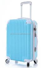 100% ABS luggage set/ 4 wheels suitcase/ combination lock upright/ trolleycase 20'/24'/28'