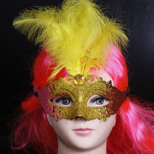wholesale custom made halloween mask with feathers