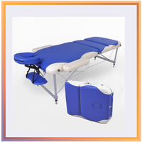 3 WAY BLACK ADJUSTABLE PORTABLE MASSAGE BED/TABLE/COUCH
