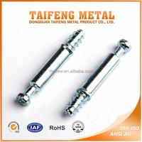 zinc plated carbon steel furniture cam screws