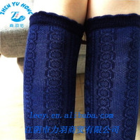 In Stock Knee Highs Stockings, Lady Blue Dress Socks, Customized Anti Foul Function