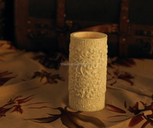 Smooth Granite Surface Pillar Candle Battery Operated Light