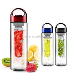 2015 new product portable plastic fruit infuser water bottle