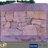 Natural granite wire mesh back stones for exterior wall house