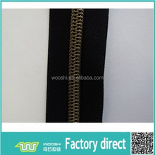 Strong zipper foot High quality nylon zipper chain used for boots,shoes