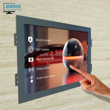 15 inch capacitive touch screen LCD monitor 1024*768 DVI open frame /kiosk/wall