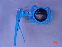 hand wheel cast iron wafer butterfly valve