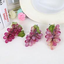 Plastica morbida grappoli uva grappolo frutta decorazione della casa/sanqi yiwu fabbrica artigianale
