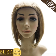 Stock Thick And Healthy Ends Mustache Full Lace Synthetic Silk Top Wigs