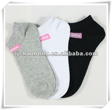 Cheap crew toe polyester socks
