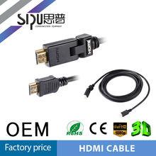 mejor sipu fábrica 90 grado micro hdmi cable