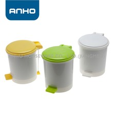 Wire connection colored lid and pedal plastic rubbish bin