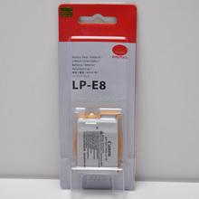 New Genuine Original LP-E8 Battery for Canon EOS 550D 600D Kiss X4 Rebel T3i T2i