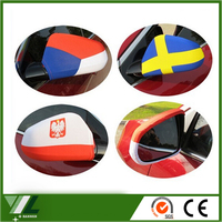 protection car wing mirror flag and national car side mirror cover