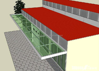 Professional laminated glass canopy, door, stairs, curtain wall manufacturer