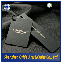 2015 Top Quality Fashion Black Paper Wholesale Tags