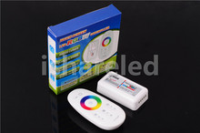 RF 2.4G wireless full touch controller, 12v-24v 6A Controller For SMD 5050 3528 RGB led strip light, control distance 30m