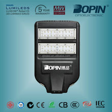 China manufacturer chip Meanwell Driver led street light/lamp 80w for road/street/village/subway/factory