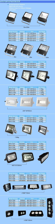 High Quality LED Security Flood Light Black with Adjustable Aluminium Housing