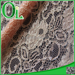 OLEI 2015 african lace fabric Shaoxing textile high quality nylon and rayon lace for dressing