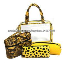 mejor venta al por mayor con cremallera de cierre precioso promoción transparente bolso cosmético del pvc de moda estilo