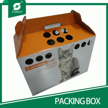 PRINTED CAT HOUSE MADE BY DURABLE CORRUGATED CARDBOARD