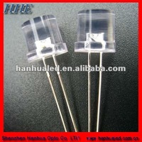 8mm flat top led in lighting emitted color pure blue