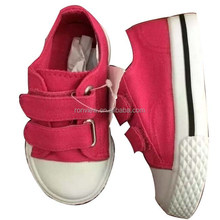 kids casual shoes with canvas upper, PVC outsole kids footwear