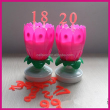 birthday party supplies electronic flower birthday candle