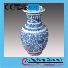 Hand painting blue and white porcelain vase artistic decor