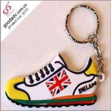 Alibaba wholesale custom soft rubber running shoe keychain