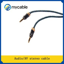 AV Cable 3.5MM stereo plug6.3 MONO RCA CABLE High Quality Audio Cable
