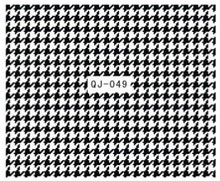 2015 newest 3D Nail Sticker Decal Black Houndstooth Dogtooth Chain stickers accessories Houndstooth decoration