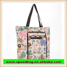 beatiful design shoulder bag flower pattern print tote bag foldable shopping bag R278