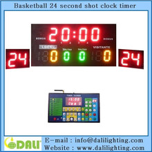professional basketball 24 seconds timer used