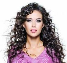 Awesome offer 100% Indian Remy Curly h_u_m_a_n Hair Full Lace Wig 24 inches Color 2