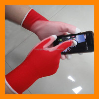 PU Palm Coated Smart Finger Touch Gloves