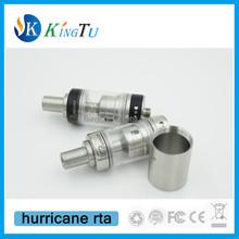 white ss black hurricane rta atomizer hurricane rda cheap price hurricane with ss tube and glass tube