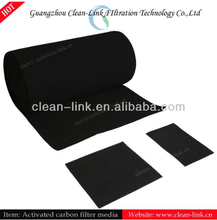 Non-woven activated carbon fabrics air filter media