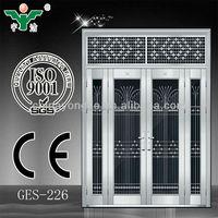 china supplier double leaf steel door price