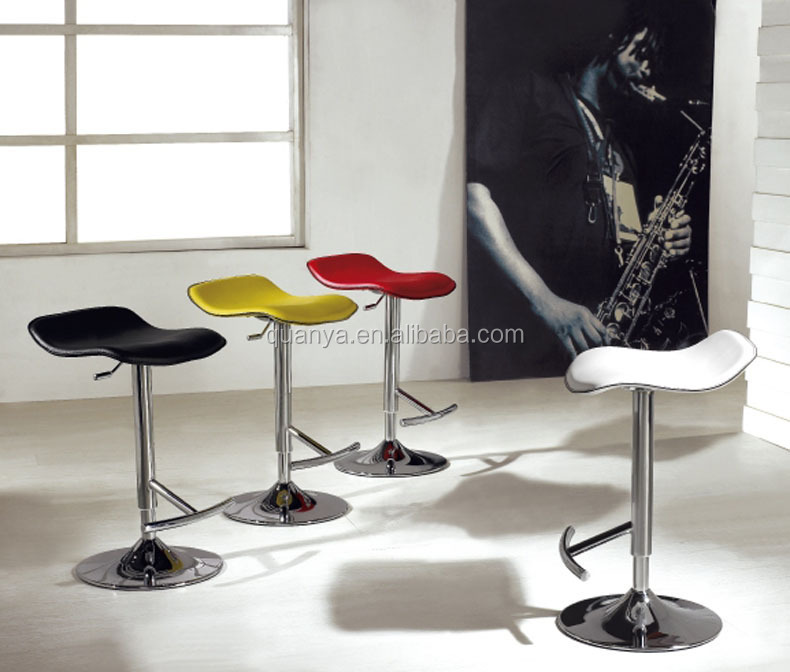 Adjustable Height Gas Lift Bar Stool With Pvc Leather