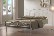 Elegant italian style bed furniture for bedroom metal bed price
