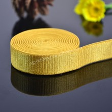 2015 fashion jacquard garment ribbon in gold color