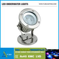 YJS-0002 IP68 PF0.9 RGB low power 3W round led underwater lights