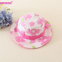 good prince sweet flowers design summer kids hats fashion baby girl straw hat top quality hats for baby
