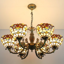 China tiffany chandelier lamp factory offer wholesale tiffany chandelier lamp in small order
