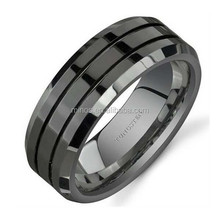 Men's Stainless Steel Jewelry, Stainless Steel Black Ring 8mm, Men's Fashion Alibaba Wholesale New Designs Jewelry