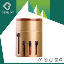 Promotional led light logo gifts and promotion customized Newest 3000mA travel plug adapter Mirror Surface led logo