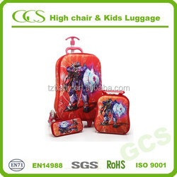 Cool Kids Cartoon Boy Luggage and Rolling Travel Suitcase with Wheels