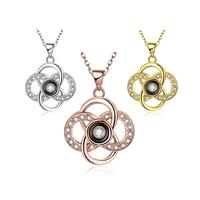 Latest Silver color double rope braided titanium necklaces LKNSPCN107
